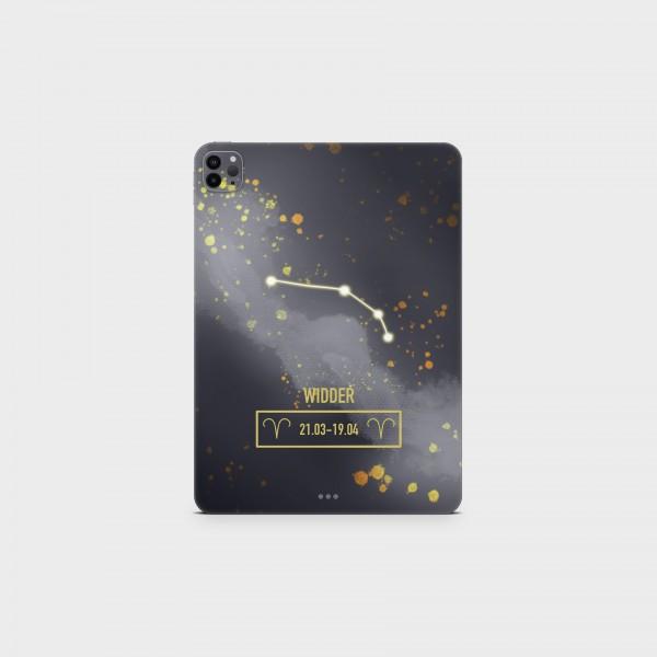 """GREEN MNKY Backcover Skin Tablet 11"""" (Zodiac Serie) """"Widder Zodiac"""" [3 Stück]"""