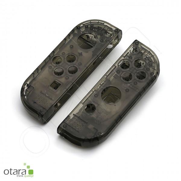 Joy-Con Gehäuse Set [RECHTS und LINKS] geeignet für Nintendo Switch (2017), clear black