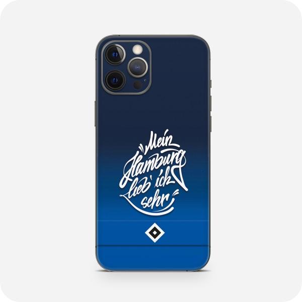 """GREEN MNKY Backcover Skin Smartphone 7"""" (HSV Kollektion) """"Mein Hamburg lieb ich sehr HSV"""" [3 Stück]"""