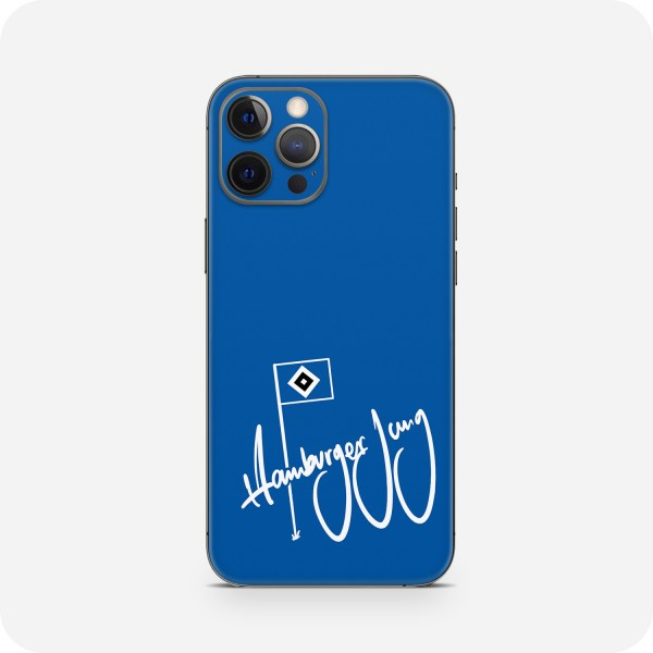"GREEN MNKY Backcover Skin Smartphone 7"" (HSV Kollektion) ""Hamburger Jung Flag Blue "" [3 Stück]"