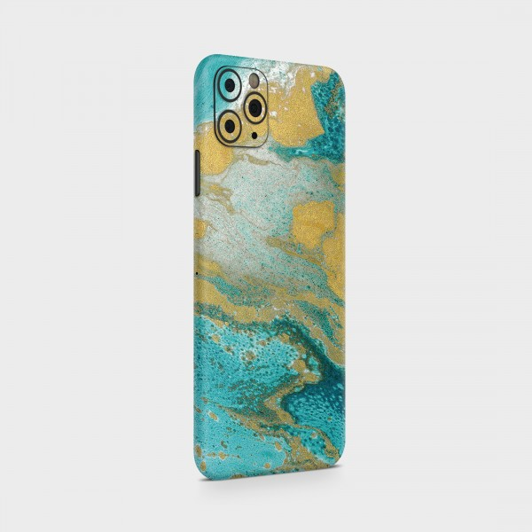 "GREEN MNKY Backcover Skin Smartphone 7"" (Struktur Serie) ""Golden Blue"" [3 Stück]"