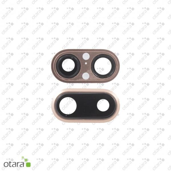 Kameraglas Linse (mit Rahmen) geeignet für iPhone 8 Plus, rose gold