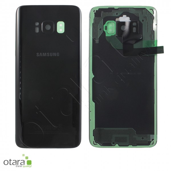 Akkudeckel Samsung Galaxy S8 (G950F), midnight black, Serviceware