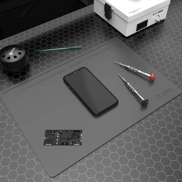 2UUL Arbeitsmatte, Silikon, hitzebeständig, (ca.40x28cm), grau