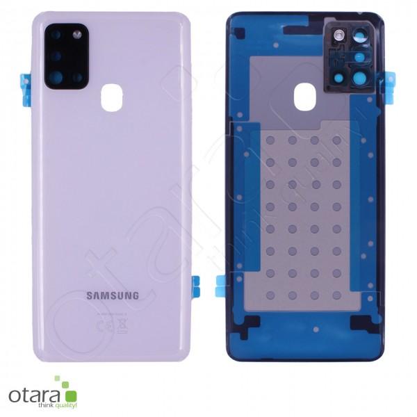 Akkudeckel Samsung Galaxy A21s (A217F), white, Serviceware