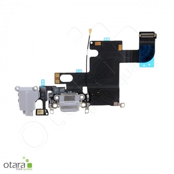 Lade Konnektor + Audio Flexkabel geeignet für iPhone 6, schwarz