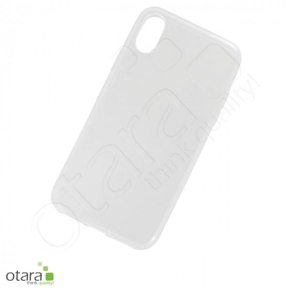 Silikoncase/Schutzhülle für iPhone X/XS, transparent