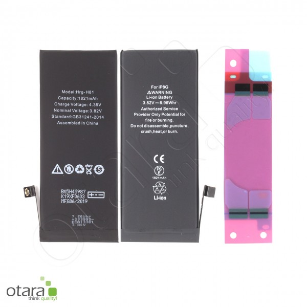 Akku Premium mit TI Chip geeignet für iPhone 8, 3.82V 1821mAh (inkl. Akkuklebestreifen)