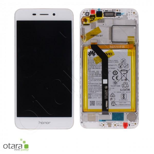 Displayeinheit inkl. Rahmen, Akku Huawei Honor 6C Pro, gold, Serviceware