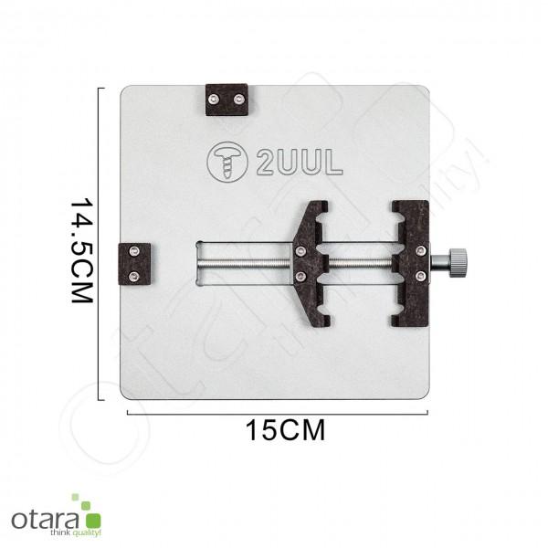 Fixierung, Holder/fixture, 3in1 2UUL für iPhone Backcover, Platinen und Displayglas Reparatur