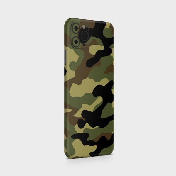 """GREEN MNKY Backcover Skin Smartphone 7"""" (Struktur Serie) """"Camouflage Navy"""" [3 Stück]"""