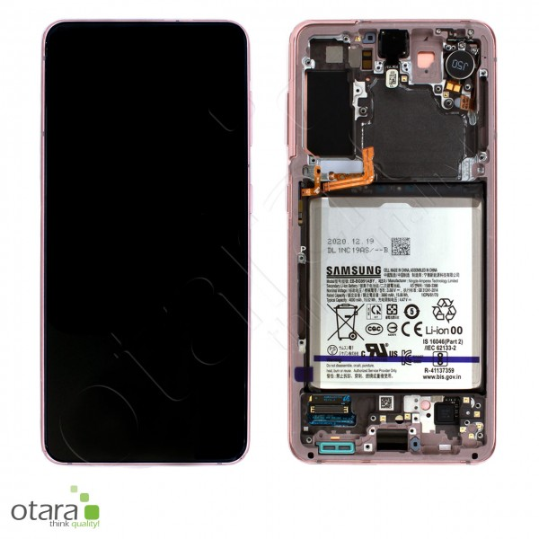 Displayeinheit Samsung Galaxy S21 (G991), inkl. Akku, phantom pink, Serviceware