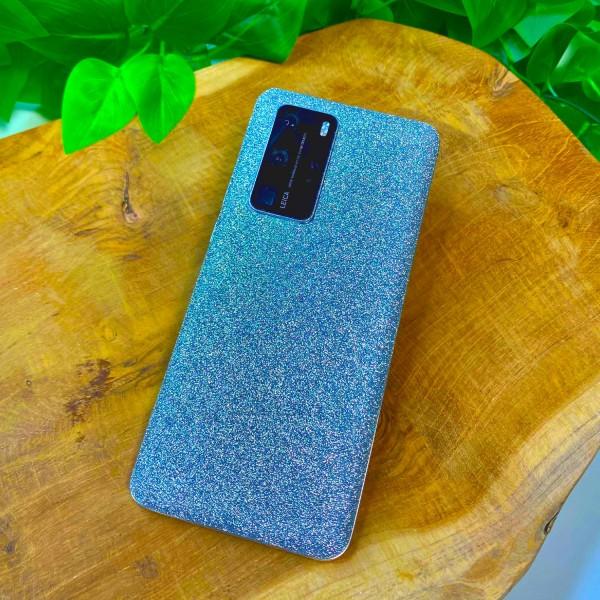 "GREEN MNKY Backcover Skin Smartphone 7"" (Glitter Serie) ""Silver Glitter"" [3 Stück]"