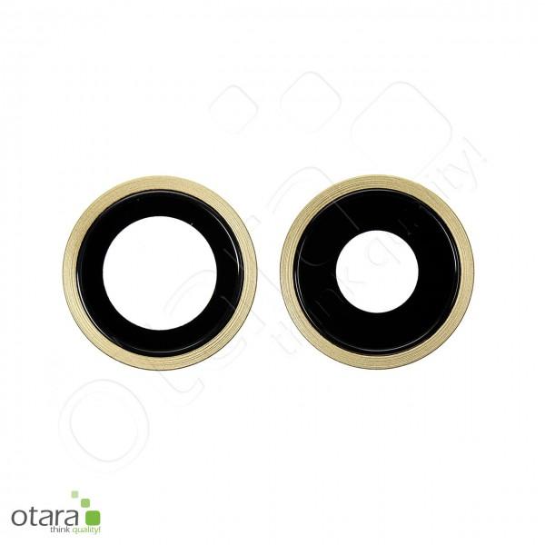Kameraglas Linse (mit Rahmen) geeignet für iPhone 11 [2 Stück], gelb