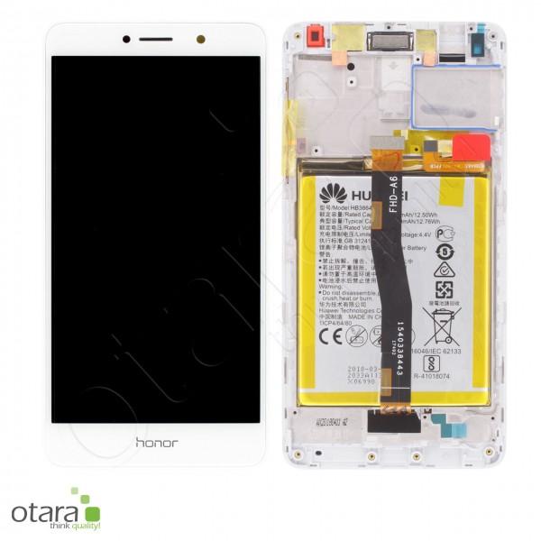 Displayeinheit inkl. Rahmen, Akku Huawei Honor 6X (BLN-L21), Mate 9 Lite, white, Serviceware