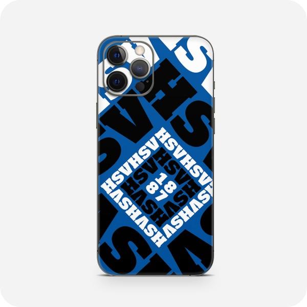 """GREEN MNKY Backcover Skin Smartphone 7"""" (HSV Kollektion) """"HSV Monogramm Blue"""" [3 Stück]"""