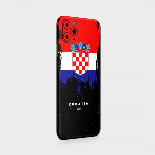 "GREEN MNKY Backcover Skin Smartphone 7"" (Flags Serie) ""Croatia Flag"" [3 Stück]"