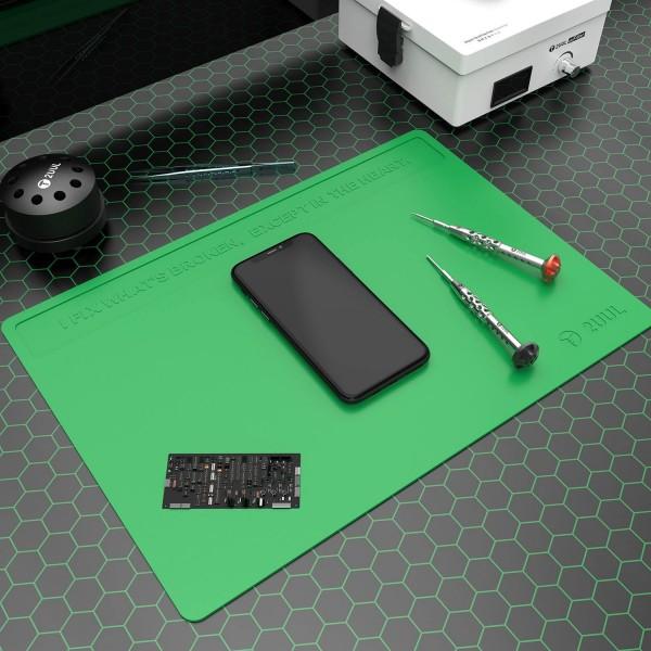 2UUL Arbeitsmatte, Silikon, hitzebeständig, (ca.40x28cm), grün