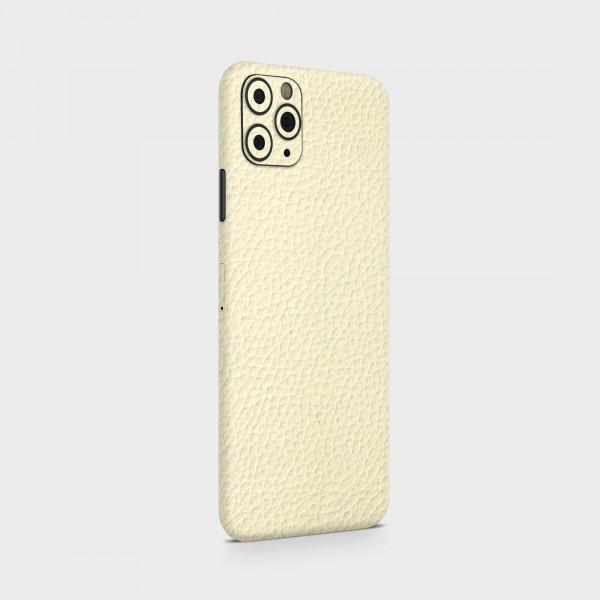 "GREEN MNKY Backcover Skin Smartphone 7"" (Struktur Serie) ""Lederoptik White"" [3 Stück]"