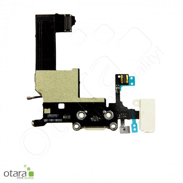 Lade Konnektor + Audio Flexkabel geeignet für iPhone 5, weiß