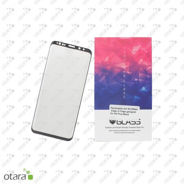 Panzerglas Edge to Edge für Samsung Galaxy S9 Plus, schwarz