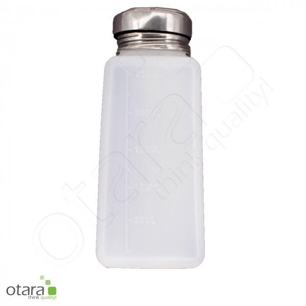 Liquid-Spender mit Pumpaufsatz, Dispenser für Flüssigkeiten [Kunststoff/250ml]