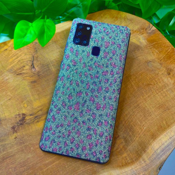 "GREEN MNKY Backcover Skin Smartphone 7"" (Glitter Serie) ""Leo Glitter"" [3 Stück]"