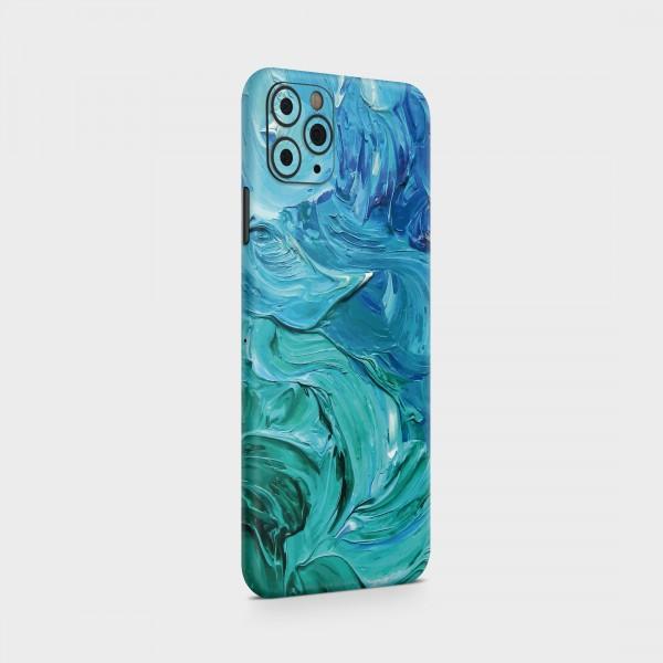 "GREEN MNKY Backcover Skin Smartphone 7"" (Struktur Serie) ""Blue Acryl"" [3 Stück]"