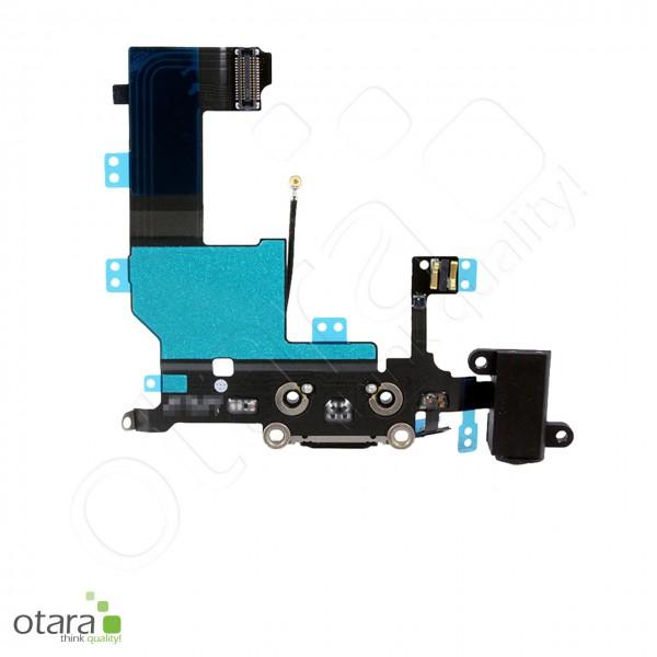 Lade Dock Connector + Audio Flex geeignet für iPhone 5, schwarz