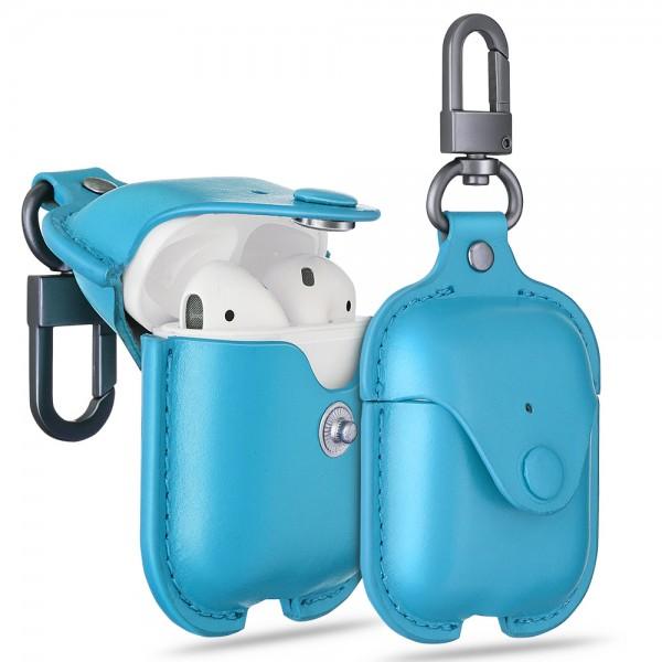 ESR Accessories Airpod Oxford Leather Case Blue