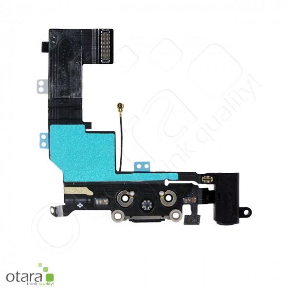 Lade Dock Connector + Audio Flex geeignet für iPhone 5s, schwarz