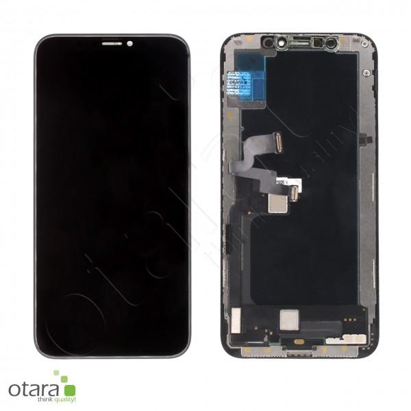 Displayeinheit geeignet für iPhone XS (COPY), soft OLED (JK), schwarz