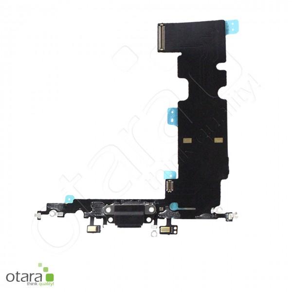 Lade Konnektor Flexkabel inkl. Mikrofon geeignet für iPhone 8 Plus (Ori/pulled Qualität), schwarz