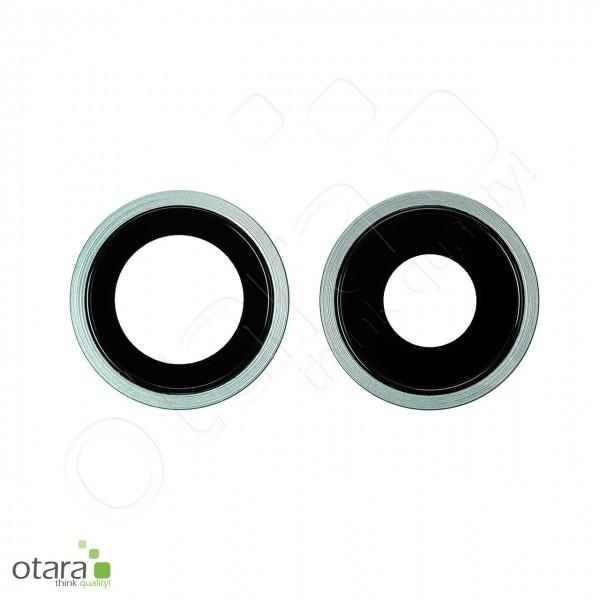 Kameraglas Linse (mit Rahmen) geeignet für iPhone 11 (2er Set), grün