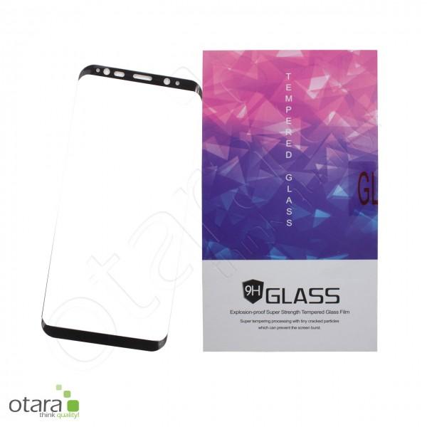 Panzerglas Edge to Edge für Samsung Galaxy S9, schwarz