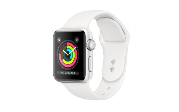 Renewd© Apple Watch Series 3, 38mm (zert. aufbereitet), silber/weiß
