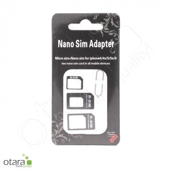 SIM Karten Adapter Set 4 teilig, schwarz