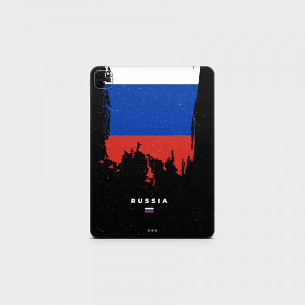 """GREEN MNKY Backcover Skin Tablet 11"""" (Flags Serie) """"Russia Flag"""" [3 Stück]"""