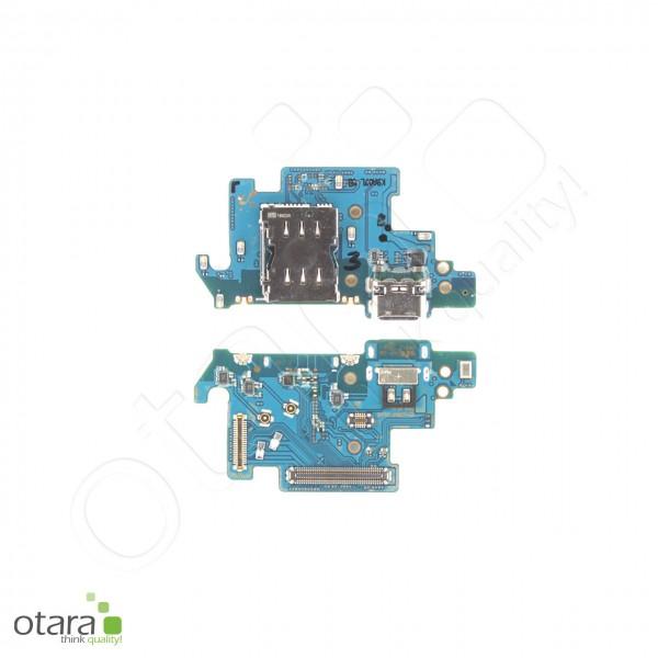 Samsung Galaxy A80 (A805F) Ladebuchse Platine mit USB Typ C, Mikrofon, Sim Kartenleser, Serviceware