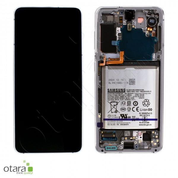 Displayeinheit Samsung Galaxy S21 (G991), inkl. Akku, phantom white, Serviceware