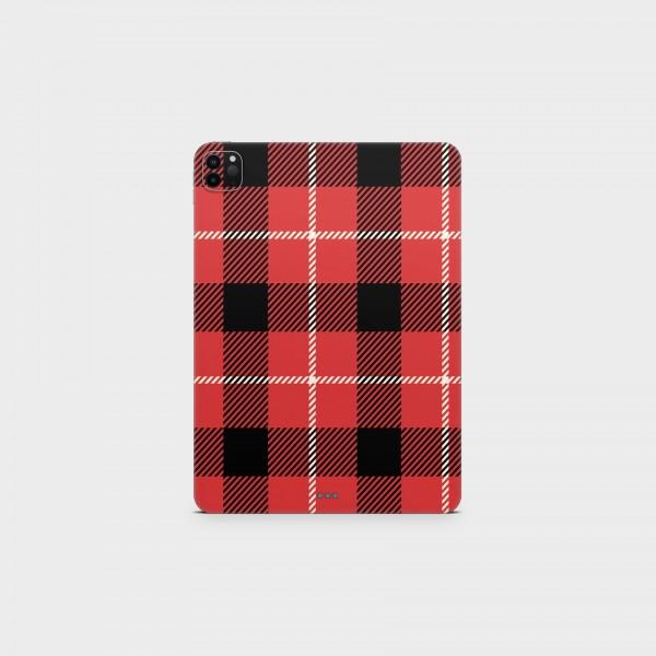 "GREEN MNKY Backcover Skin Tablet 11"" (Scottish Serie) ""Scottish Caro Red"" [3 Stück]"