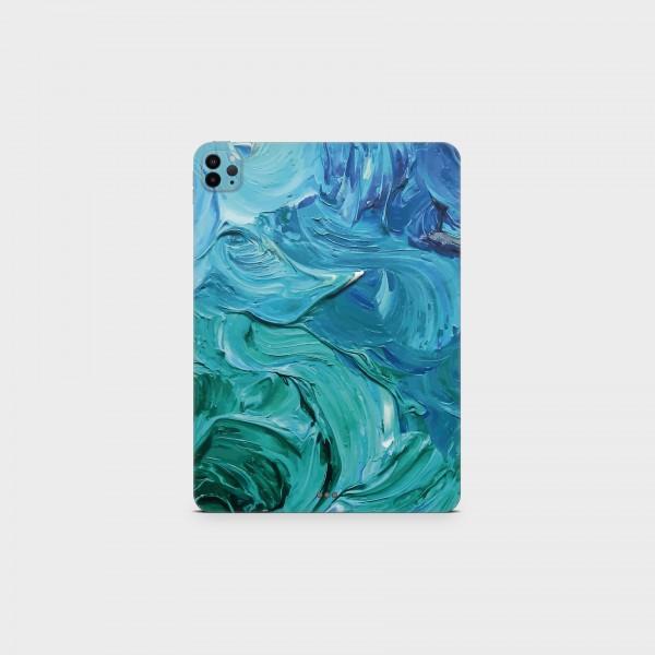 "GREEN MNKY Backcover Skin Tablet 11"" (Struktur Serie) ""Blue Acryl"" [3 Stück]"