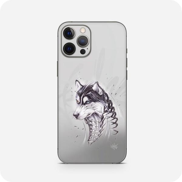 """GREEN MNKY Backcover Skin Smartphone 7"""" (Jayn Kollektion) """"Husky"""" [3 Stück]"""