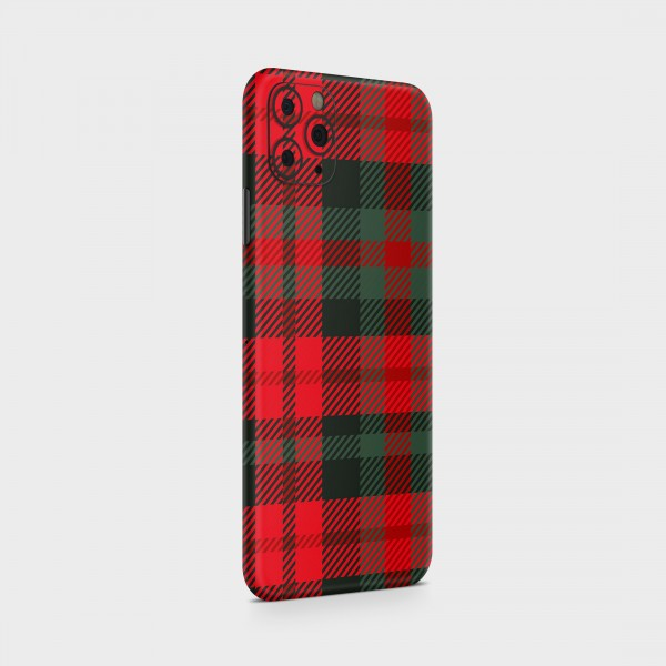 "GREEN MNKY Backcover Skin Smartphone 7"" (Scottish Serie) ""Scottish Caro Red/Green"" [3 Stück]"