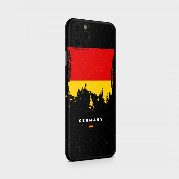 """GREEN MNKY Backcover Skin Smartphone 7"""" (Flags Serie) """"Germany Flag"""" [3 Stück]"""
