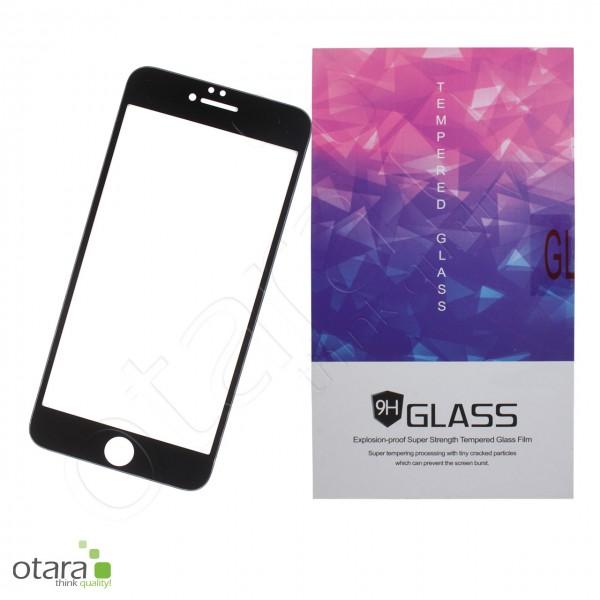 Panzerglas Edge to Edge für iPhone 7 / iPhone 8, schwarz