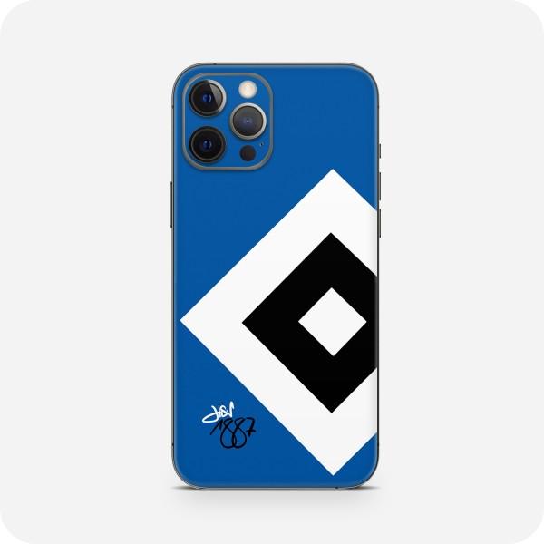 """GREEN MNKY Backcover Skin Smartphone 7"""" (HSV Kollektion) """"HSV 1887 Wappen Blue """" [3 Stück]"""