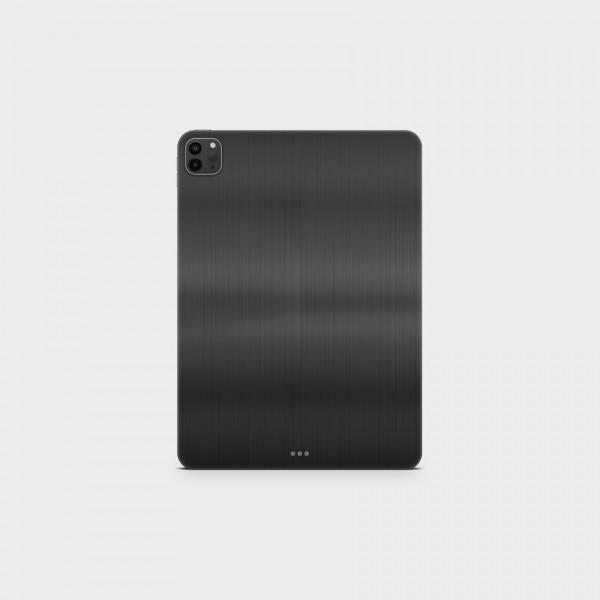 """GREEN MNKY Backcover Skin Tablet 11"""" (Struktur Serie) """"Brushed Metal Black"""" [3 Stück]"""