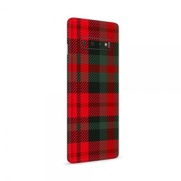 """GREEN MNKY Backcoverfolie Backfilm Design """"Scottish Caro Red/Green"""" [3er Pack]"""
