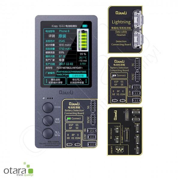 Qianli iCopy Plus 2.1 Programmiergerät Tester inkl. Platine für Display, Akku, Lightning